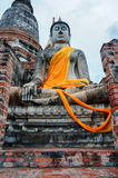 The Buddha in Ayutthaya Thailand Royalty Free Stock Photos