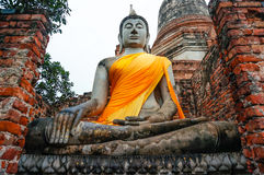 The Buddha in Ayutthaya Thailand Stock Photography
