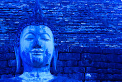 Buddha azul Imagem de Stock Royalty Free