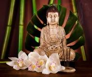Buddha background, vivid colors, natural tone Royalty Free Stock Photo