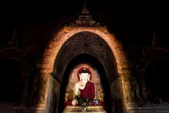 Buddha in Bagan royalty free stock photography