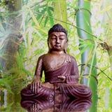 Buddha with bamboo - asian spa decoration Stock Image