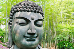 Buddha in the bamboo forest Royalty Free Stock Photos