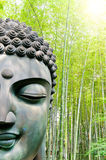 Buddha in the bamboo forest Stock Images