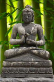 Buddha with bamboo Royalty Free Stock Photography