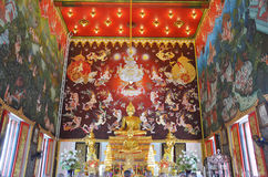 Buddha of Bangpai Temple Nontaburi Thailand. This article on Thai temple art and architecture discusses Buddhist temples in Thailand. A typical Thai Wat, which Stock Image