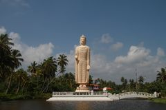 Budha by the beach stock photography