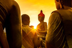 Buddha and beautiful sunset Royalty Free Stock Photography