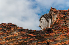 Buddha behind the wall. At Ancient City in Thailand Royalty Free Stock Photo
