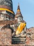 Buddha bei Wat Yai Chai Mongkol stockfoto