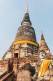 Buddha bei Wat Yai Chai Mongkol stockfotografie