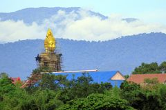 The Buddha is being built. Located in Ban Tak, Tak Province. The Buddha is being built. Located in Ban Tak, Tak Province, Thailand Royalty Free Stock Images