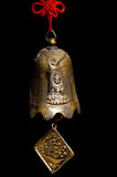Buddha bell. Picture of a bronze bell isolated on black Royalty Free Stock Images