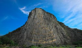 Buddha-Berg Khao-Chi Chan Stockbilder