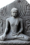 Buddha in Bhumisparsha mudra. From 10th century found in Bihar now exposed in the Indian Museum in Kolkata, on Nov 24, 2012 royalty free stock photos