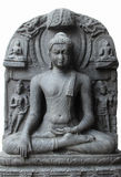 Buddha in Bhumisparsha mudra. From 10th/11th century found in Bihar now exposed in the Indian Museum in Kolkata, on Nov 24, 2012 royalty free stock photos