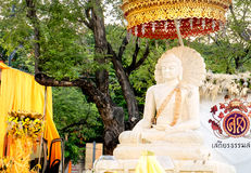 Buddha biała statua, Sanam Luang, Bangkok, Tajlandia Obraz Stock