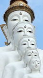 Buddha bianco 5 elementi Fotografie Stock