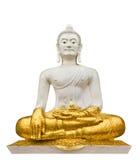 Buddha bianco su priorità bassa bianca Fotografia Stock