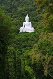 Buddha bianco sulla montagna Fotografia Stock Libera da Diritti