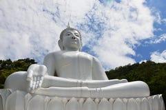 Buddha bianco sulla montagna Immagine Stock