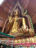 Buddha. Big gold buddha in Kanchanaburi Thailand royalty free stock images