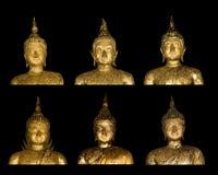 Buddha-Bild auf schwarzem Hintergrund lizenzfreies stockbild
