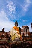 Buddha-Bild in Ayutthaya Thailand. Stockbild