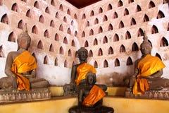 Buddha-Bild bei Wat Si Saket Stockbild