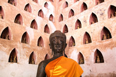 Buddha-Bild bei Wat Si Saket Lizenzfreies Stockfoto
