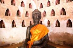 Buddha-Bild bei Wat Si Saket Stockfoto