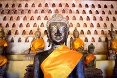 Buddha-Bild bei Wat Si Saket Stockbilder