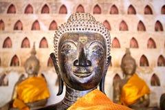 Buddha-Bild bei Wat Si Saket Lizenzfreies Stockbild
