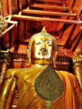 Buddha-Bild im Tempel Die Kunst im Zeitraum von Ayutthaya bei Thailand stockbilder