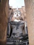 Buddha-Bild innerhalb des Mandapa Stockbild