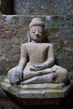 Buddha-Bild in Mrauk U, Myanmar Lizenzfreies Stockfoto