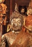 Buddha bild som räknas med bladguld Fotografering för Bildbyråer