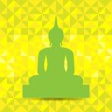 Buddha-Bild-Zusammenfassungs-Hintergrund Stockfotografie