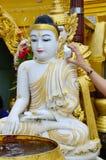 Buddha-Bildstatue Birma-Art von Shwedagon-Pagode Stockbild