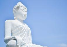 buddha bildwhite Royaltyfria Bilder