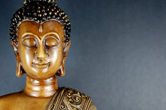 Buddha black 5. Buddha bust shot off-centered to the left Stock Images
