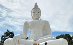 Buddha blanco grande Fotografía de archivo libre de regalías