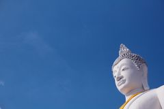 Buddha and blue sky Royalty Free Stock Images