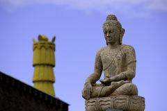 Buddha and Blue Sky Royalty Free Stock Photography