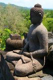 Buddha In Borobudur. Buddha statue in Borobudur temple in Jawa in Indonesia Royalty Free Stock Photo