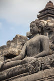 Buddha in Borobudur Temple in Java Indonesia Stock Photography