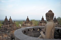 Buddha in Borobudur Temple on Java island Stock Photo