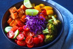 Buddha bowl-clean eating vegan glutenfree recipe Royalty Free Stock Photos