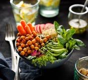 Buddha bowl, healthy and balanced vegan meal. Buddha bowl of mixed vegetables, healthy and nutritious vegan meal Stock Photos