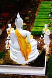 Buddha branco grande Fotografia de Stock